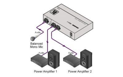 Wzmacniacz Kramer  dystrybucyjny i liniowy 1:2 sygnałów mikrofonowych