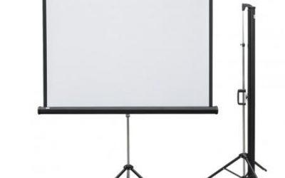 Ekran projekcyjny przenośny POP na trójnogu 195 x 145