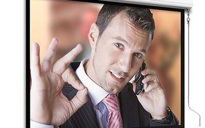 Ekran projekcyjny Adeo Winch Professional