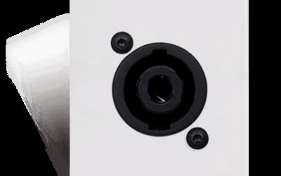 Panel przyłączeniowy- głośnik w rozmiarze D Bticino AUDAC CP43SPE/W