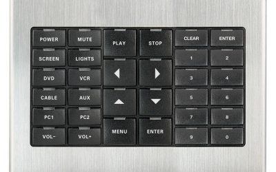 Crestron 3-Gang Faceplates and Metallic Faceplate Covers for CNX-B Designer Keypads B-G3-FP