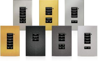 Crestron Ascent® Solid Metal Faceplates for Cameo® Keypads, Standard Mount CBD-FP-ASCENT