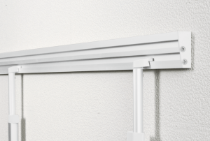 Tablica Legamaster Wall rail set Legaline DYNAMIC Double channel extension, 120 cm White (RAL 9016) powder-coated