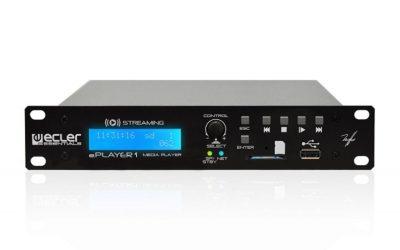 Ecler ePLAYER 1 – Odtwarzacz muzyki – Ethernet, WiFi oraz USB / SD